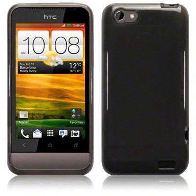 Etui Terrapin do HTC One V  żelowe - czarny