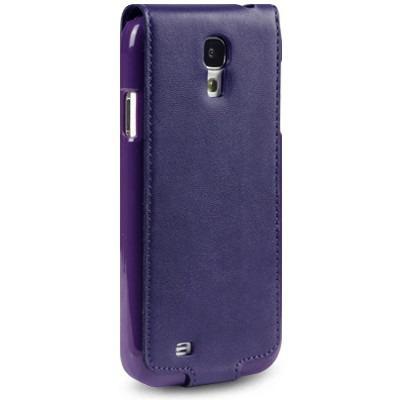 Etui Terrapin do Samsung i9500 Galaxy S4 skórzane  - fioletowy