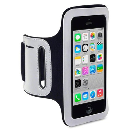Etui sportowe Shocksock do Apple iPhone 5C odblaskowe - czarny