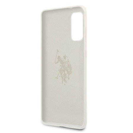 ETUI U.S. POLO ASSN. SILICONE COLLECTION DO SAMSUNG GALAXY S20 (WHITE)