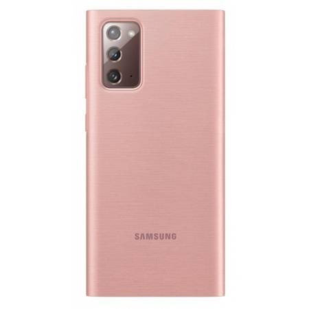 Etui Do Samsung Note 20, Różowy, Clear View Cover