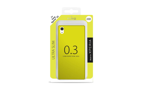 Etui PURO Ultra Slim 0.3 Cover + folia na ekran Xperia Z5 limonkowy żelowy