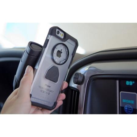 Etui RokForm Rugged + uchwyt magnetyczny do Apple iPhone 6 Plus / 6S Plus biało-szare