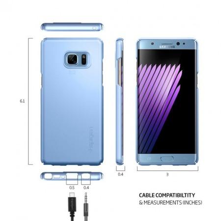 Etui SPIGEN SGP Thin Fit do Samsung Galaxy Note FE / Note 7 niebieski
