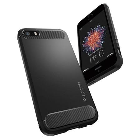 Etui Spigen SGP Rugged do Apple iPhone 5 / 5S / 5SE czarne