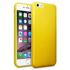 Etui Terrapin do Apple iPhone 6 Plus żelowe - żółty