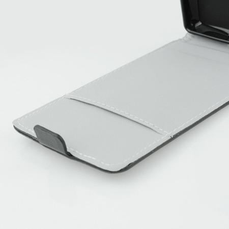 Etui kabura Slim Flexi Pionowa - LG Zero skórzane czarne