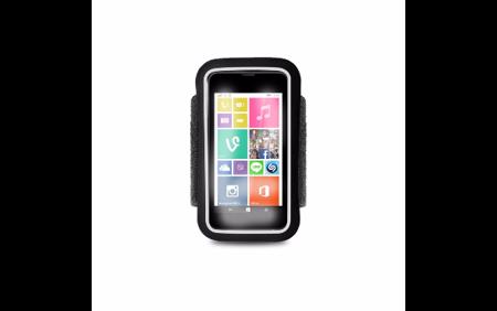 """PURO Uniwersalna frotka do biegania do smartfonów max 4.3"""" + key pocket czarna"""